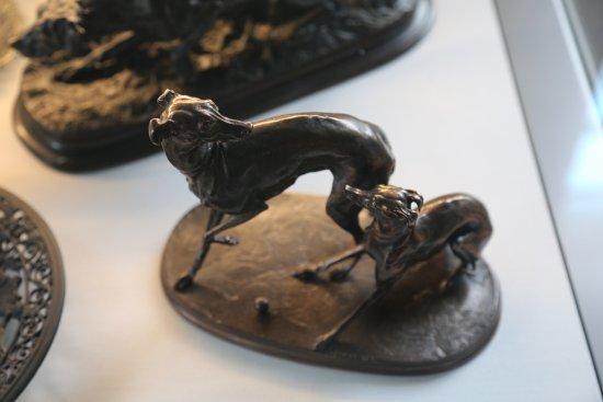 Greyhounds at Play - Cast Iron, Coalbrookdale Museum of Iron, Ironbridge Gorge.