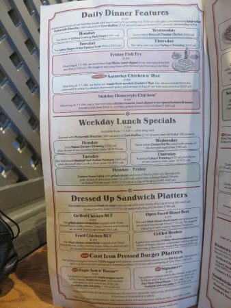 Roanoke Rapids, NC: Lunch and dinner specials