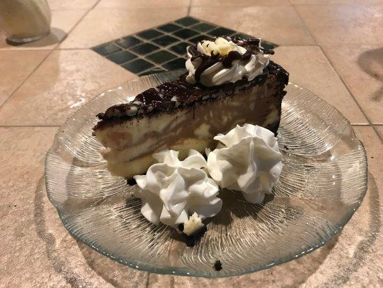 Napolatano's: chocolate raspberry cheesecake