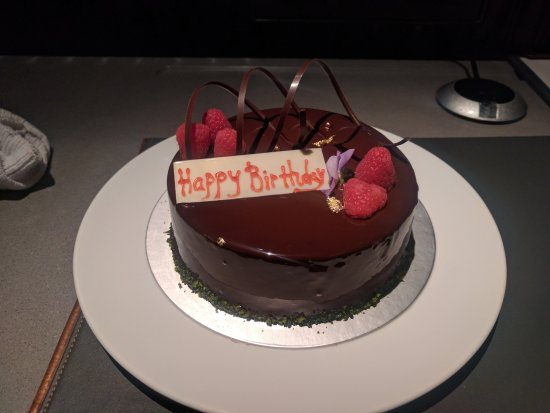 Marvelous A Birthday Cake The Hotel Prepared For My Wife Which We Found On Personalised Birthday Cards Veneteletsinfo