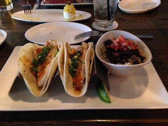 Westmont, IL: Tilapia Tacos, Beans n Rice w Pico de Gallo