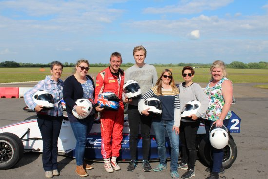Bicester, UK: Amazing! Great fun in the two seater race car driven by our fantastic driver Craig