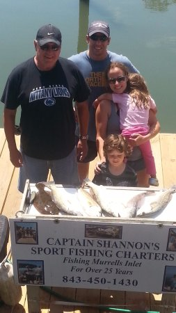 Catch-1 Charters - Capt. Shannon's Fishing Charters: Mr. Kelly and son with red Fish