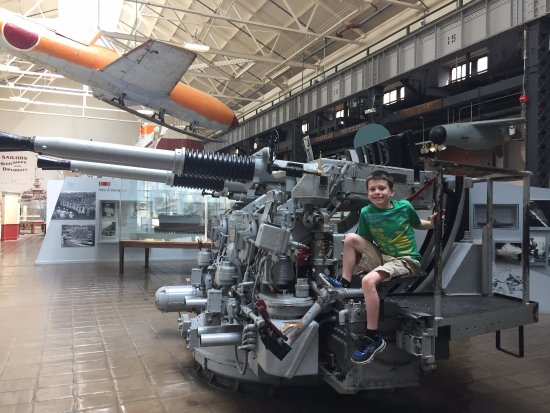 National Museum of the United States Navy: One of the gun turrets available for exploration 05-19-2017