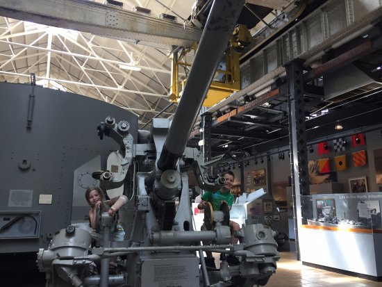 National Museum of the United States Navy: Another gun turret available for exploration at National Museum of US Navy 05-19-2017