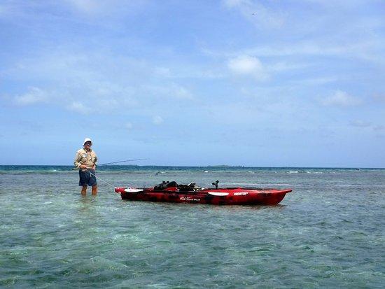 Tarpon Caye Belize: Fishing the flats DIY