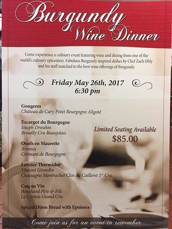 Pescara: Join us Memorial Weekend for a one of a kind wine Dinner!