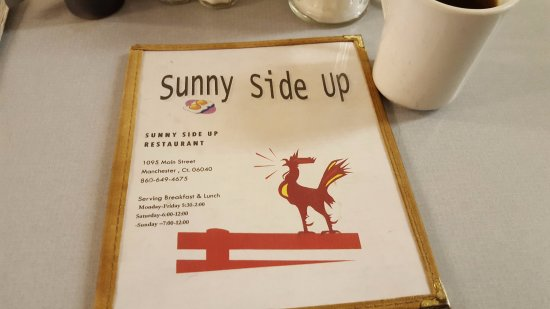 Sunny Side Up: Menu