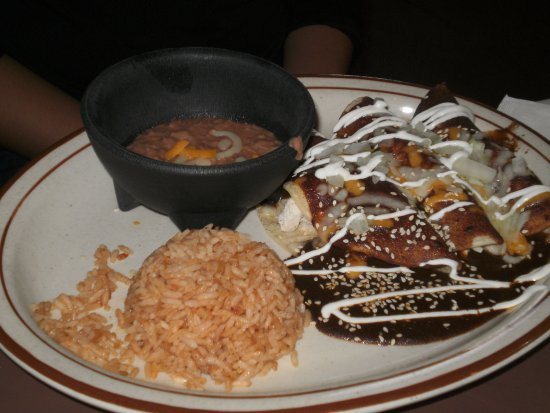 Taber, Canadá: Enchiladas mole