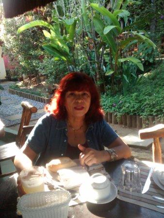 Pousada Albatroz: Terraza donde sirven el desayuno