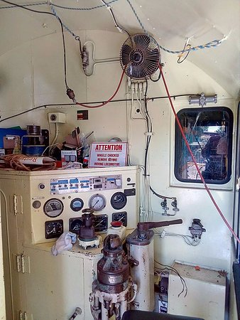 Toowoomba, Australia: Inside our diesel electric locomotive 1172