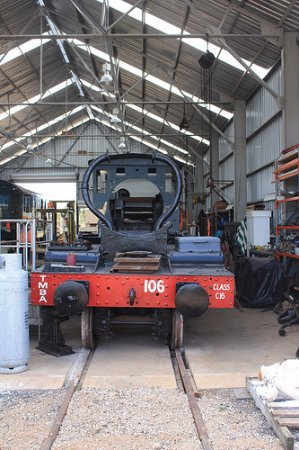 Toowoomba, Australia: Our Steam Loco C16-106 during overhaul