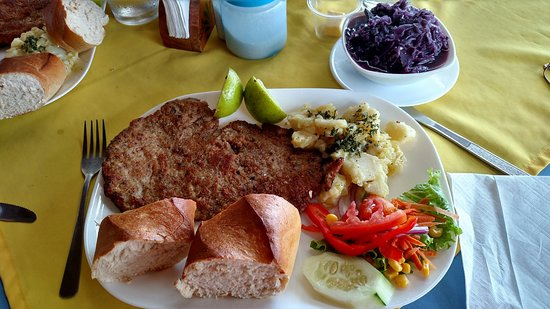 Nuevo Arenal, Kosta Rika: Some really, really good schnitzel!  Excellent rot kohl.