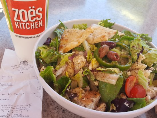 Zoes Kitchen: Greek chicken salad