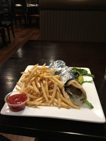 The Canopy Mediterranean Grill Falafel Wrap With Fries