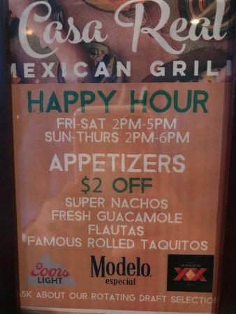 Loveland, CO: Casa Real Happy Hour