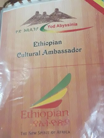 menu - Picture of Yod Abyssinia Traditional Food, Addis