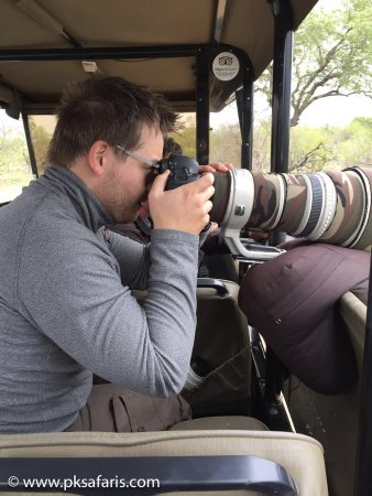Hazyview, South Africa: Photographic safari with Bean Bags Equipment fitted to the vehicle.