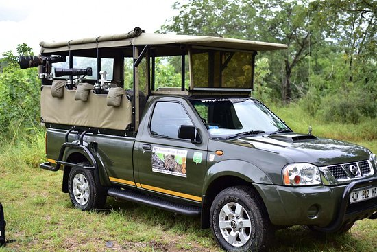 """Hazyview, South Africa: Photographic safari with Gimpro """"Gimbals"""" and Bean Bags fitted to the vehicle."""