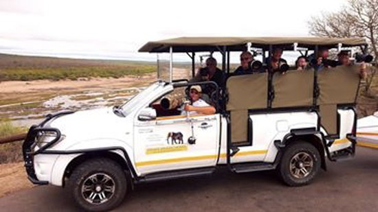 """Hazyview, South Africa: Photographic safari with Gimpro """"Gimbals"""" Equipment fitted to the vehicle."""