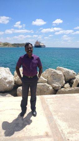 Marsaxlokk, Malta: The port view, where big ships berth, unloading their cargo