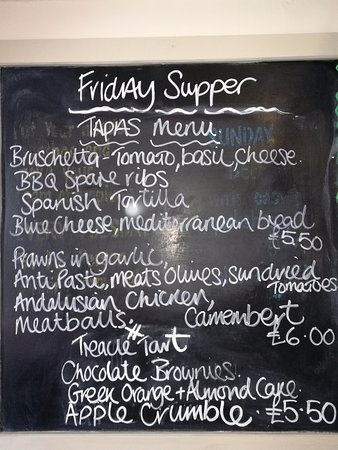 Everdon, UK: Tapas menu.