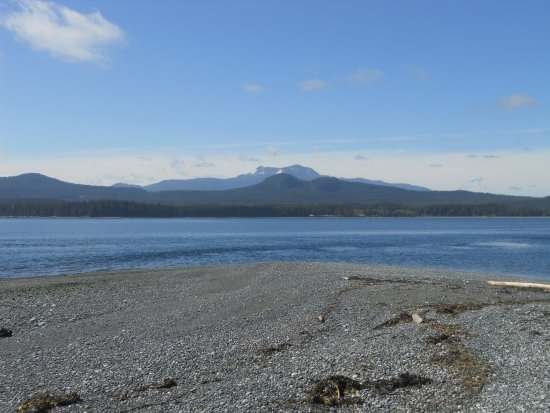 Malcolm Island, Canada: View from the point across to Cluxewe Campground