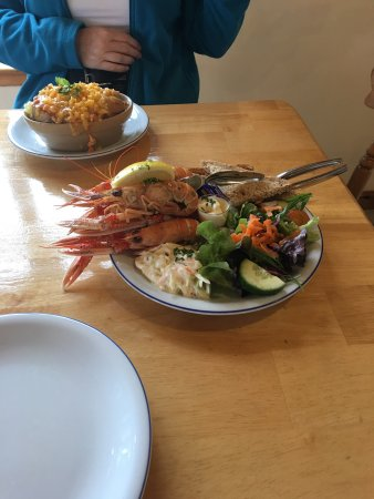 Strathcarron, UK: Lunch at Kishorn Seafood Bar, delicious!