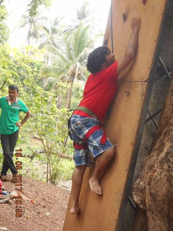 "Sancordem, India: "" Wall climbing an activity organised within the hotel premises"