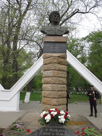 Monument to the Hero of Soviet Union Magomed Gadzhiyev
