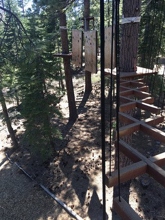 "Tahoe City, CA: This is the Cliffhanger - ""black diamond"" level (hardest challenge imho)"