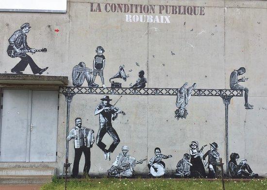 Roubaix, Frankrig: Intervention in situ par Jeff Aerosol