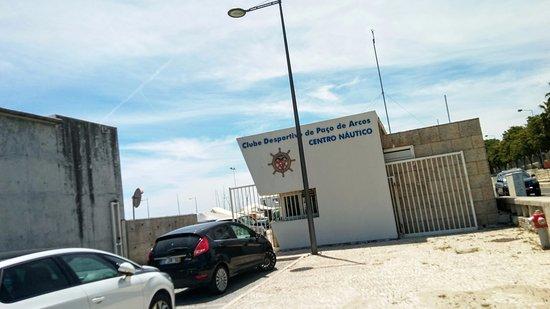 Paco de Arcos, Portugal: Il Centro Nautico che ospita il ristorante