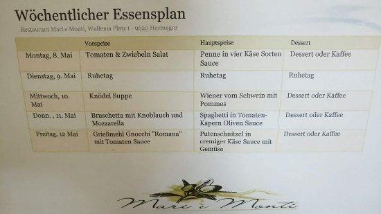 Hermagor, Áustria: Ristorante Mari eMonti