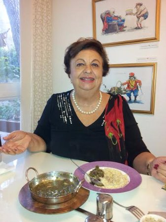 Eden Jerusalem Hotel: Pari Sani, famous Israeli writer , came by for a Parsi lunch!
