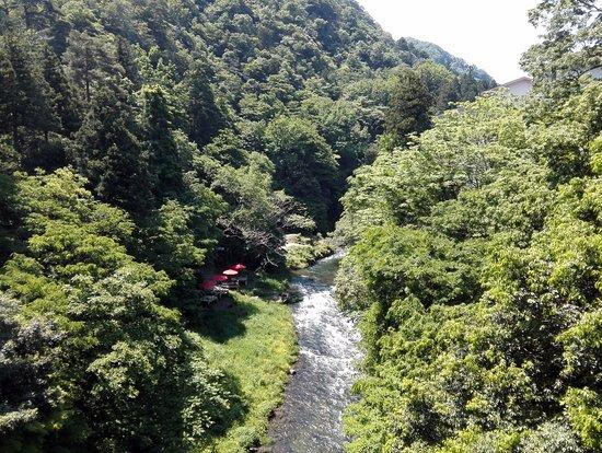 Kaga, اليابان: あやとり橋より上流を望む