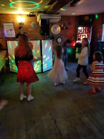 Leigh, UK: The girls enjoying the music