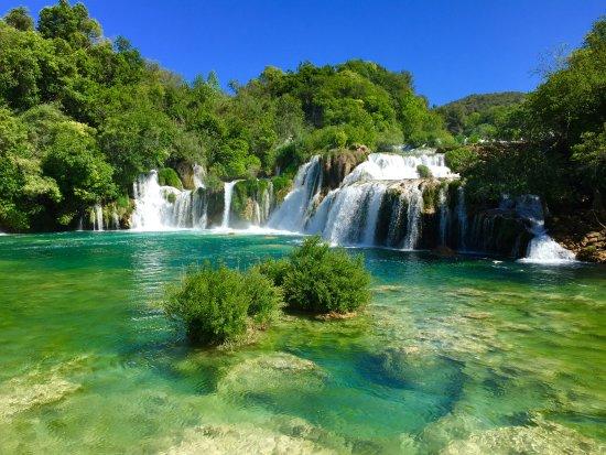 Sibenik-Knin County, Croacia: Les cascades de Skradin-Krka