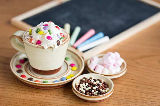 Image result for hot chocolate with toppings