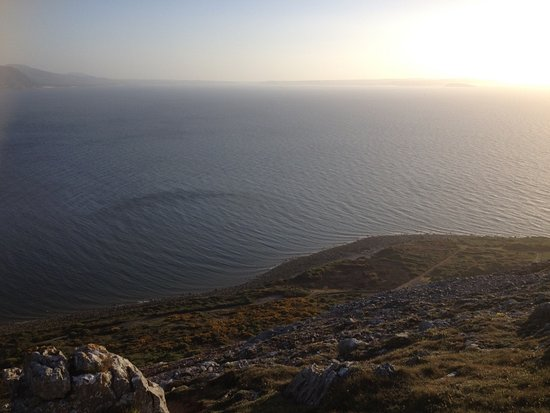 /view from Great Orme over the sea