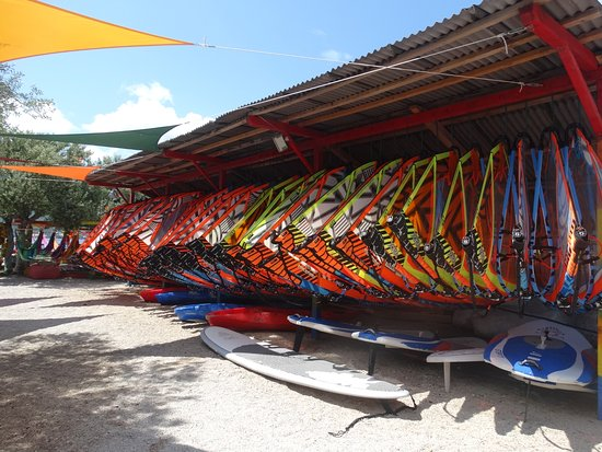 Viganj, Hırvatistan: windsurf sails