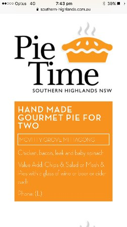 Mittagong, Australia: Southern highlands pie time
