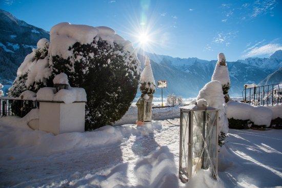 Hippach, Østerrike: tiefe Wintersonne aus süd