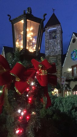 Incredible Christmas Place courtyard and train display. - Picture of ...