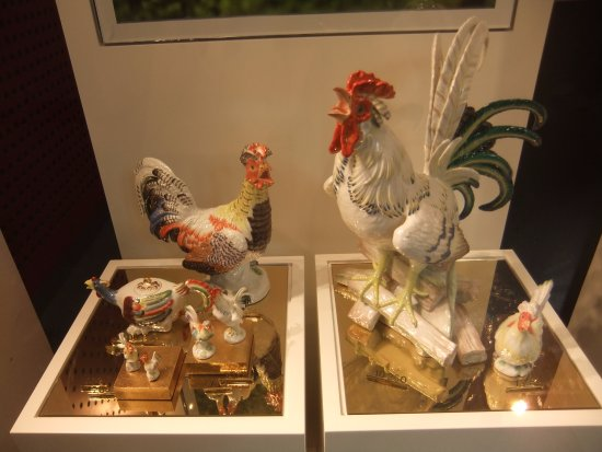 Meissen, Germany: Pieces on display.