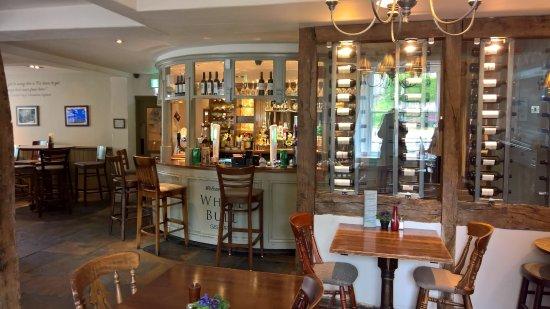 Gisburn, UK: White Bull bar and surrounding dining area
