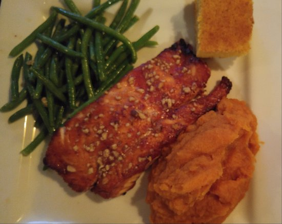 Chestertown, NY: Cranberry glazed Salmon