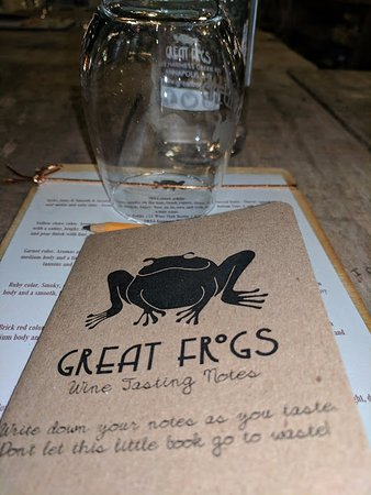 Bowie, MD: Great Frogs Tasting menu
