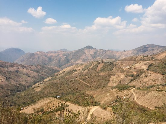 Kalaw, Myanmar: The view while we ate lunch