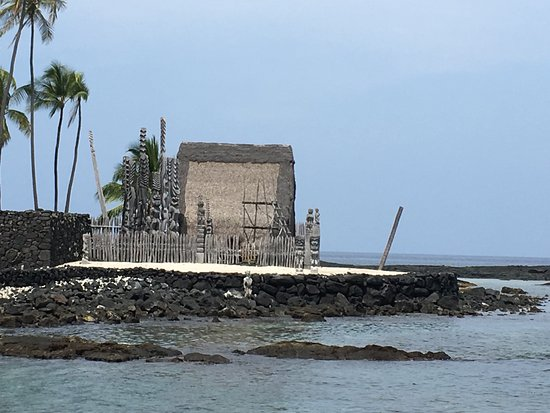 Honaunau, HI: View to the Place of Refuge